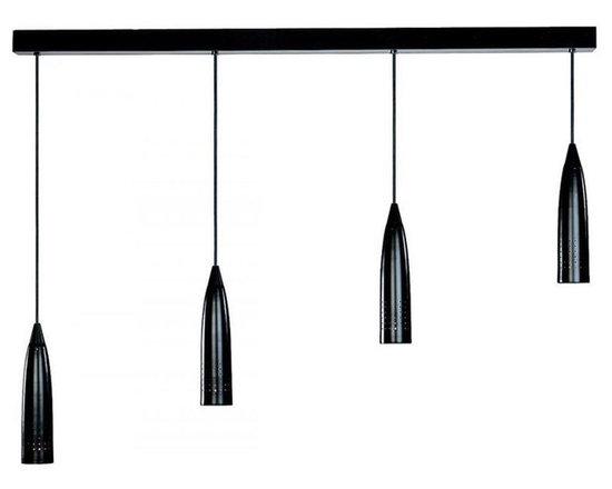 Access Lighting 52004-BS Four Light Steel Multi Light Pendant -