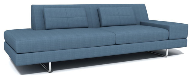 Truemodern hamlin one arm sofa with chaise modern for One arm sofa chaise