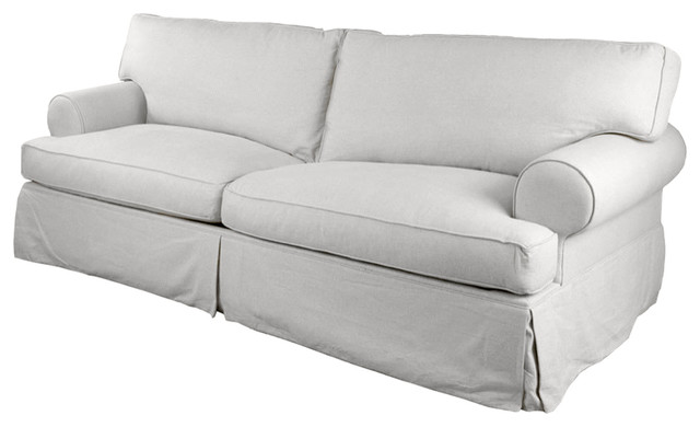 Langley Tailored Slipcover 89quot Sofa White Beach Style  : beach style sofas from www.houzz.com size 640 x 390 jpeg 34kB