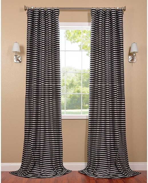 black and silver casual cotton curtain panel contemporary curtains