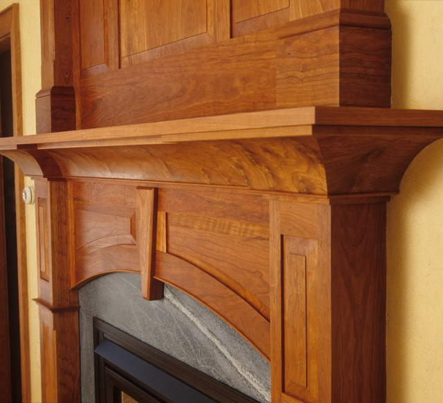Cherry Mantel - Eclectic - Fireplace Mantels - portland maine - by Freeport Woodworking