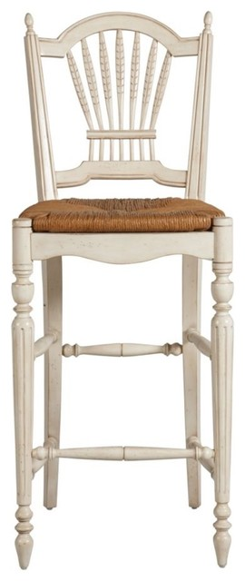 Renee Wheatback Barstool Traditional Bar Stools And