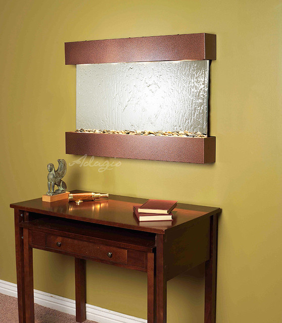 Glass and Mirrored Wall Water Features - The Reflection Creek Mirrored contemporary-indoor-fountains