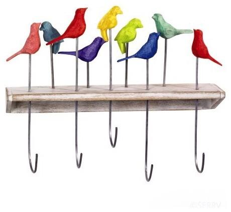 Fair Trade Hummingbird Hooks at Greenheart - Greenheart Shop eclectic-wall-hooks