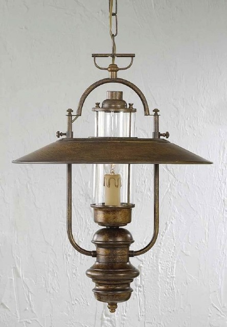 Fredeco Rustic Pendant Lantern - Traditional - Pendant Lighting - by Fredeco Lighting
