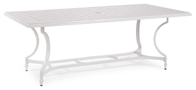 Grayson Rectangular Outdoor Dining Table in White Finish  : traditional outdoor dining tables from www.houzz.com size 640 x 296 jpeg 19kB