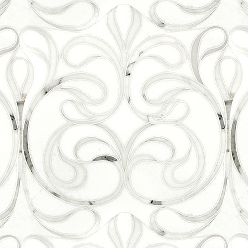 Danse Blanc Polished Water Jet Mosaic contemporary kitchen tile