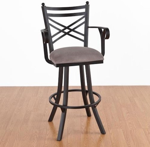 New Rochelle 30 in Bar Stool With Arms Swivel  : modern bar stools and counter stools from houzz.com size 500 x 492 jpeg 38kB