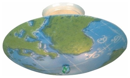 World Map Ceiling Light Fixture - eclectic - children lighting ...