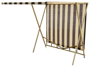 Shark Shade Portable Shade Blue and Yellow, Brown and Tan beach-style-patio-furniture-and-outdoor-furniture