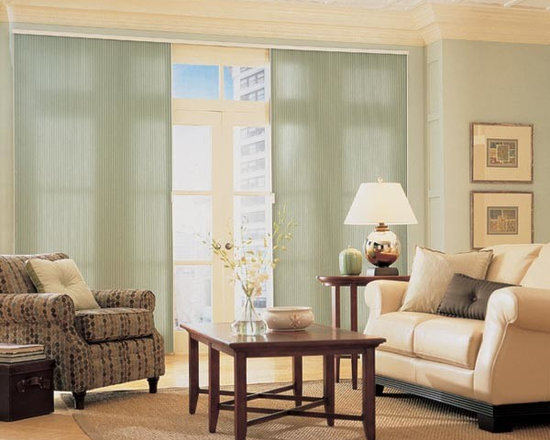 """Steve's Exclusive Collection Cellular Vertical Shades - Steve's Exclusive Collection Cellular Vertical Shades 3/4"""" Base Single Cell Blackout"""