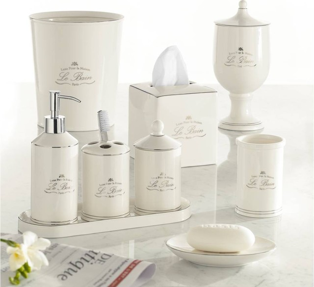Parisian Style Bath Accessories Traditional Bathroom Accessories