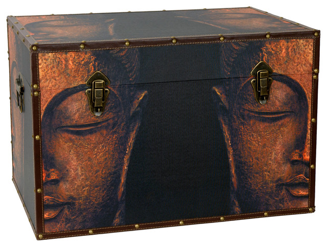 Buddha Storage Trunk eclectic-decorative-trunks