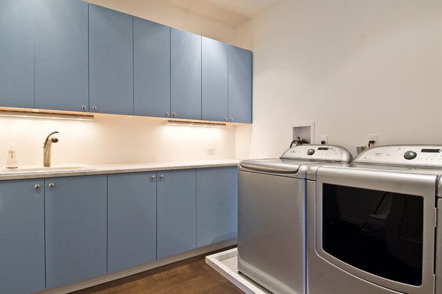 Flying Point transitional-laundry-room