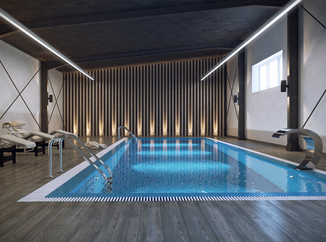 Swimming Pool In Minsk Contemporary Rendering Other Metro By Shmidt Studio