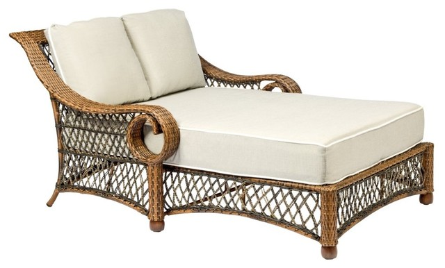 Woodard belmar all weather wicker daybed traditional for All weather wicker chaise lounge