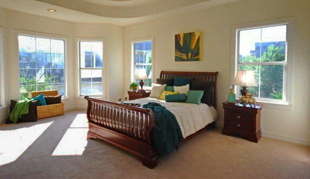 After Staging transitional-bedroom