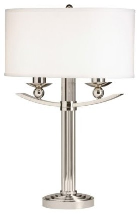 Kichler Palla 70748 Table Lamp - 18 in. - Polished Nickel contemporary-table-lamps