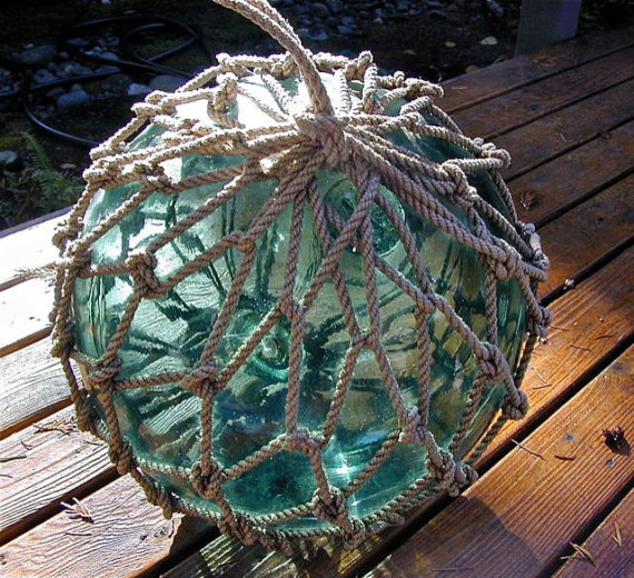 Glass Fishing Vintage Float by Lightinawormhole tropical accessories and decor