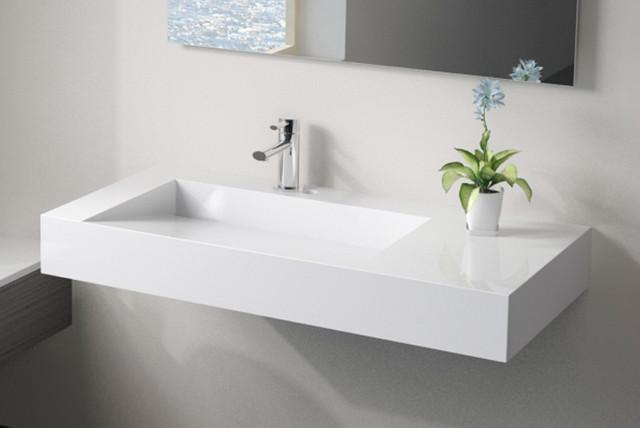 Badeloft Sinks - Wall Mounted - Stone Resin - Modern - Bathroom - san ...