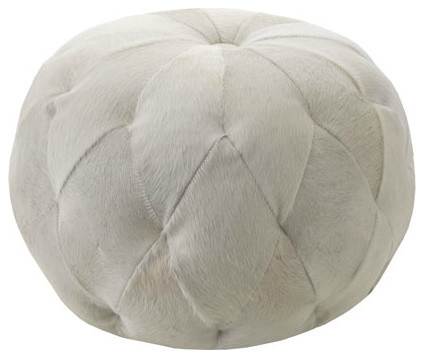 """Lee Industries """"Moyan"""" Hairhide Ottoman contemporary-footstools-and-ottomans"""