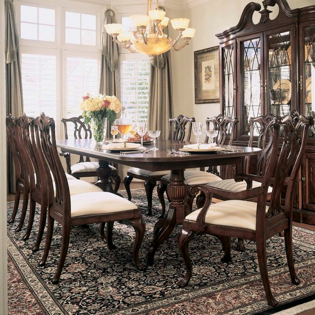 piece dining room set in antique cherry contemporary dining sets