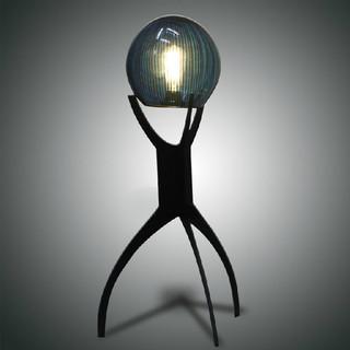 Handmade Modern Crystal Ball on Triangle Frame Floor Lamp - Modern - Table Lamps - new orleans ...