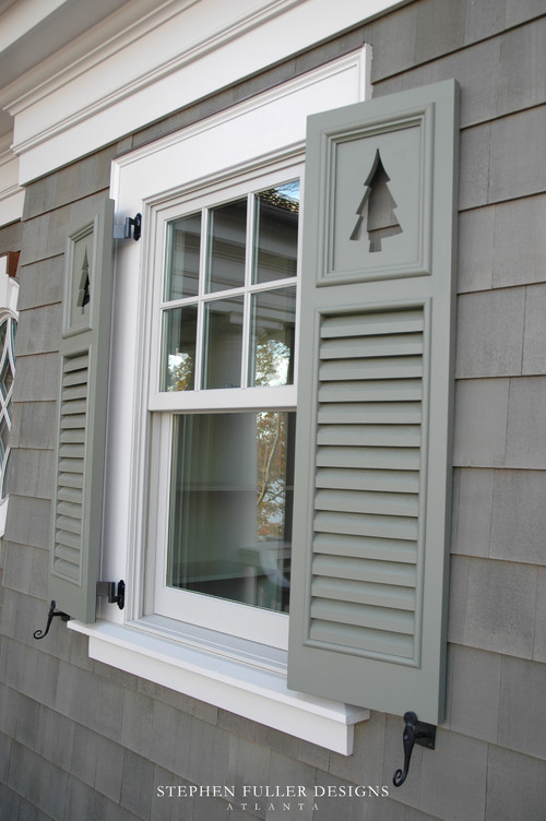 beautiful windows trim shutters hardware