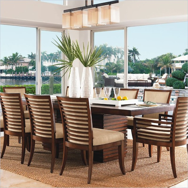 Peninsula Rectangular Dining Table: Tommy Bahama Home Ocean Club Peninsula Dining Table