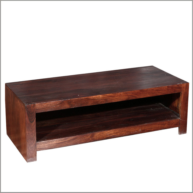 Santa Fe Easy Indian Rosewood Single Shelf Tv Cabinet Coffee Table Rustic Coffee Tables