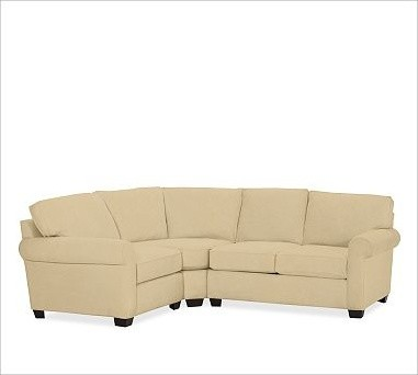 Buchanan upholstered right 3 piece small sectional with for 3 piece corner sectional sofa