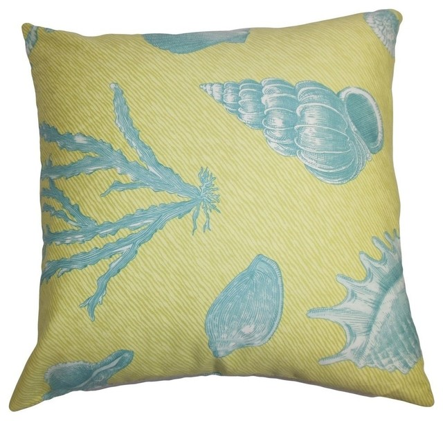 Sada Coastal Pillow, Green Blue 20
