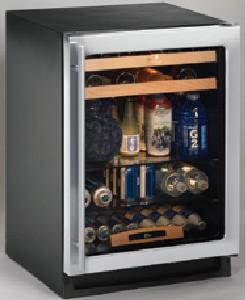 """24"""" Glass Door Refrigerator, Field Reversible Door, Stainless Steel modern-refrigerators-and-freezers"""