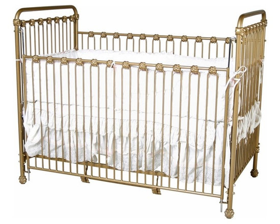 Classic Iron Crib - This hand-forged iron crib by Corsican has a classic style and timeless appeal.