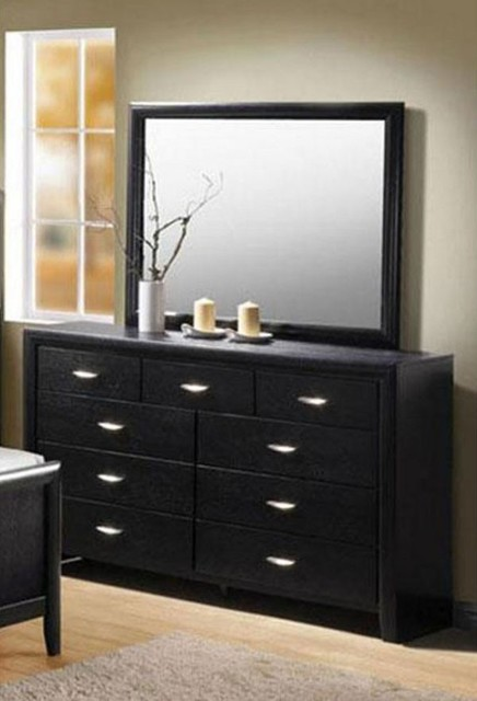 acme furniture hailee wood grain black dresser and