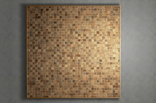 Reclaimed wood mosaic tiles - traditional - tile - other metro ...