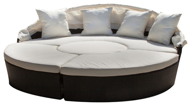 Bellagio 4-Piece Convertible Outdoor Sectional Daybed ...
