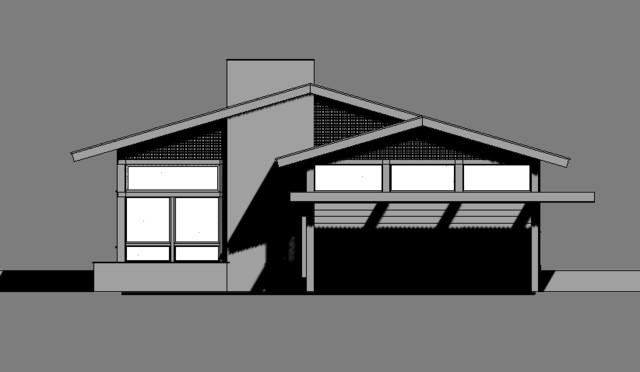Asian House Front Elevation : The little zen home asian exterior elevation