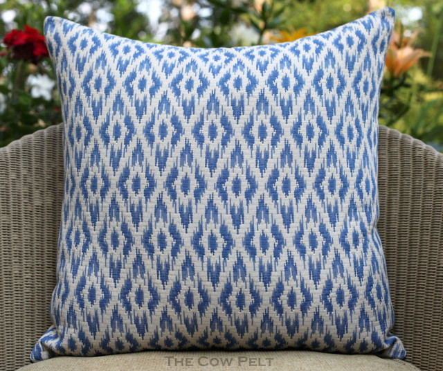 Handmade Ikat Pillow - Flame stitch - Eclectic - Decorative Pillows - atlanta - by The Cow Pelt