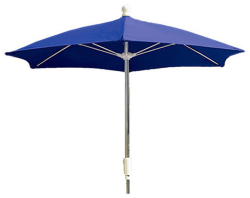 7.5 Foot Navy Blue Olefin Hexagonal Patio Umbrella outdoor-umbrellas