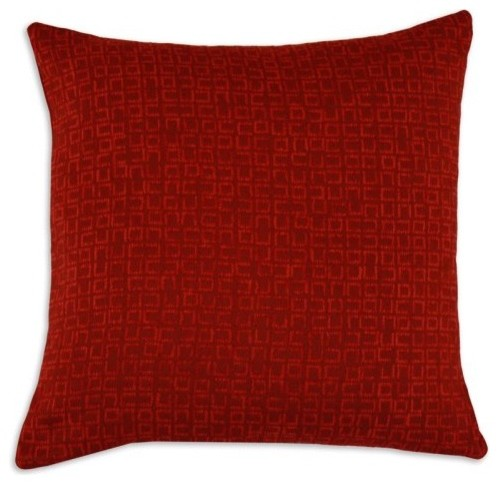 Chooty Digitally Overseas Red 17-in. Pillow contemporary-decorative-pillows