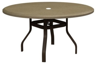 Homecrest Faux Granite Round Patio Dining Table 3842RDFG 03 Contemporary