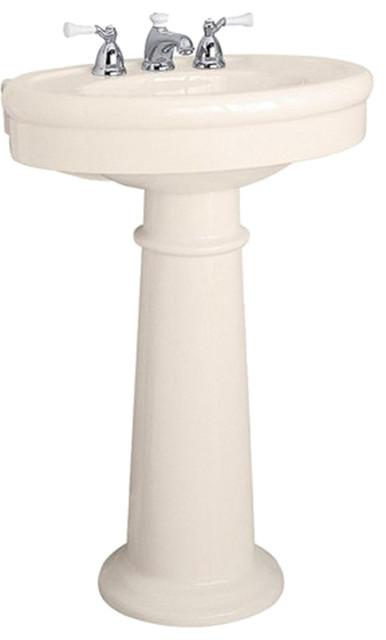 American Standard 0283.800.222 Standard Collection Pedestal Sink, Linen transitional-bathroom-sinks