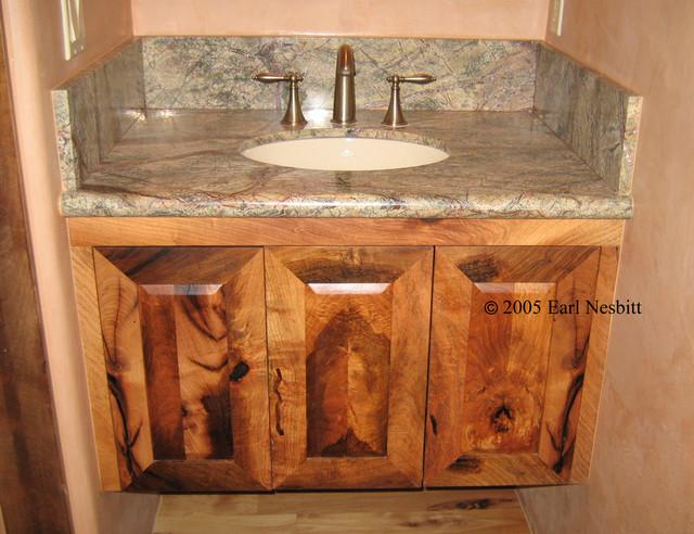 Mesquite cabinets - Contemporary - Bathroom Cabinets And Shelves - albuquerque - by Earl Nesbitt ...