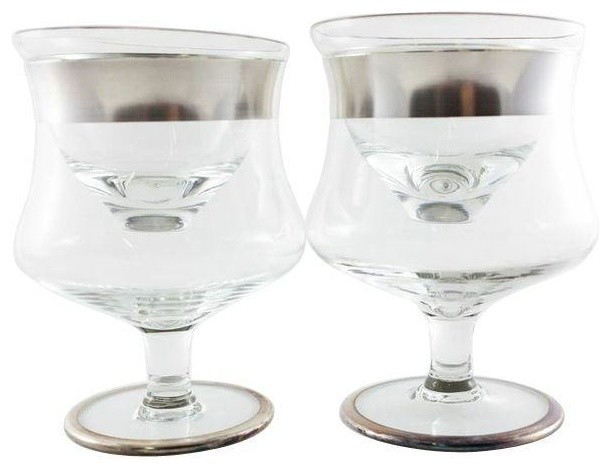 Consigned Dorothy Thorpe Shrimp Cocktail Glass traditional-tabletop