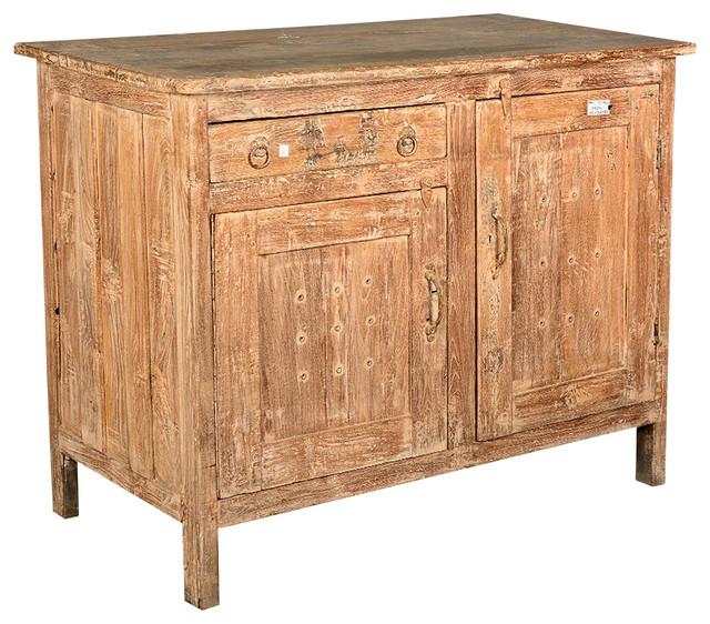 Farmhouse Reclaimed Wood Potato Bin Bread Box Cabinet rustic-buffets-and-sideboards