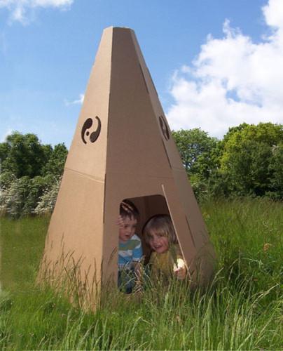 Recycled Cardboard TeePee modern-kids-toys