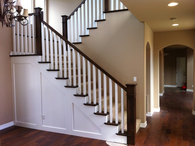 Craftsman stair in Encinitas traditional-staircase