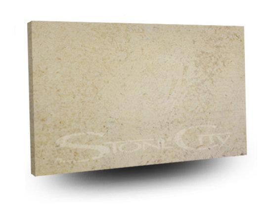 Fleur Cream Honed Limestone Slab -