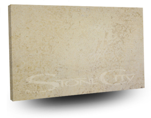 Fleur Cream Honed Limestone Slab contemporary-kitchen-countertops